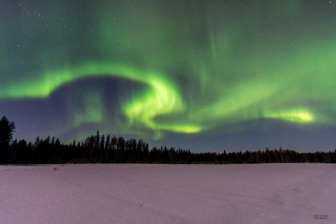 Beautiful aurora curve