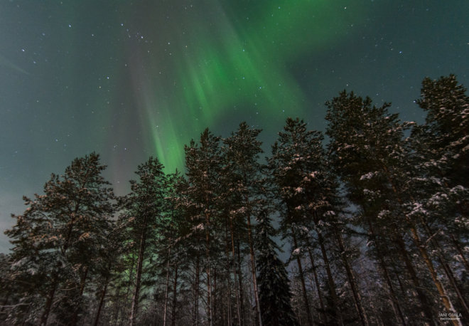 Beautiful aurora storm
