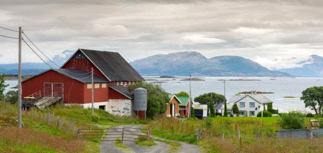 Farm in the coast