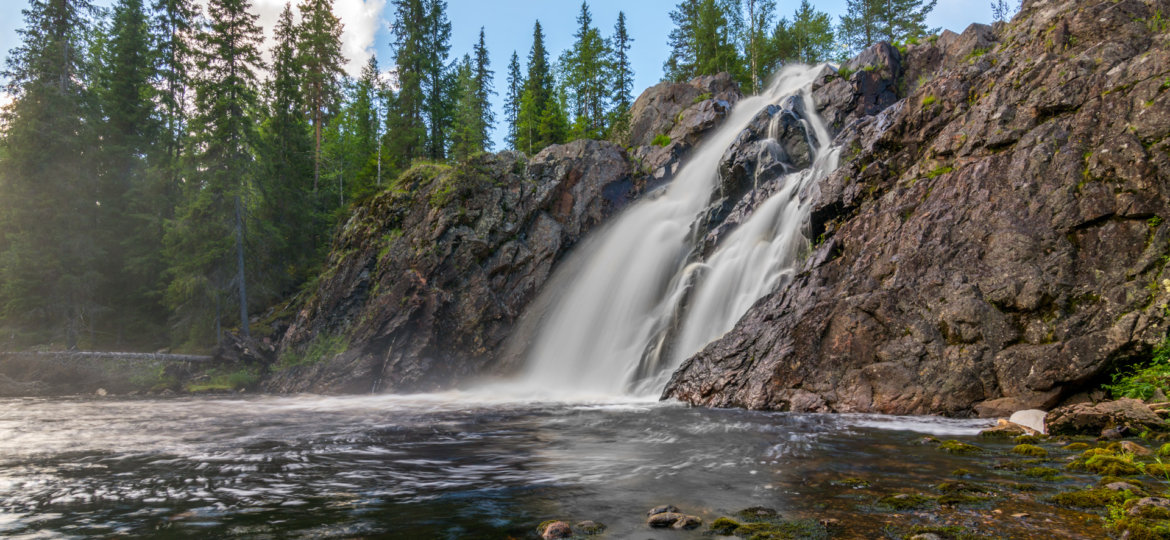Beautiful waterfall in Finland