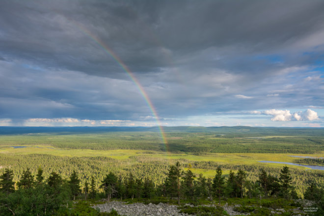 Rainbow over Lapland