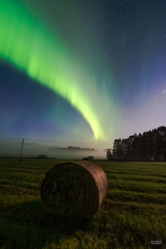 Aurora waves in the sky
