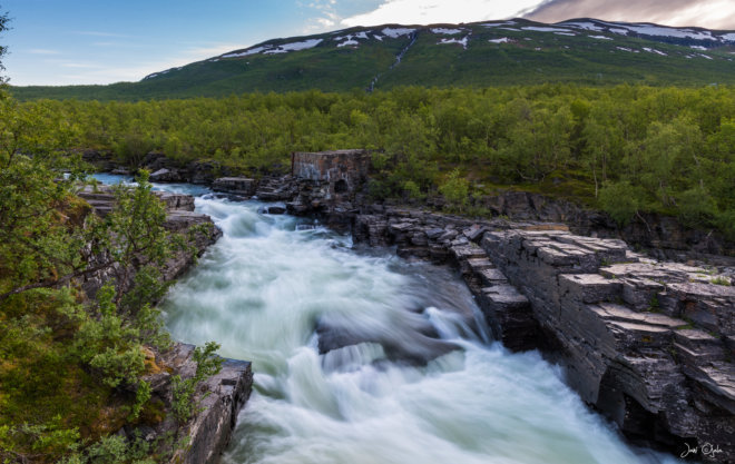 Beautiful river in abisko